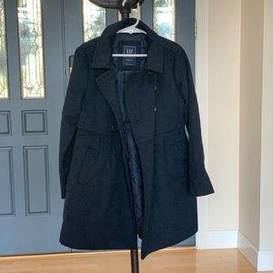 GAP girls' pea coat, Navy blue, size S (6/7)